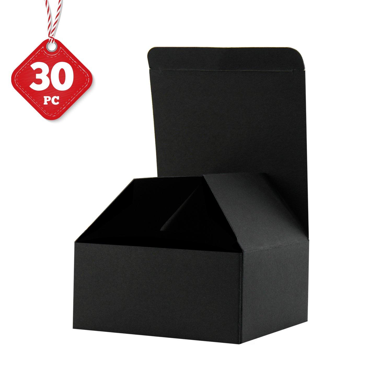 RUSPEPA 30 Pack 10,5 X 10,5 X 5,2 Cm Confezioni Regalo Di Cartone Riciclato Con Coperchi Per Bracciali, Gioielli E Piccoli Regali (Bianco)