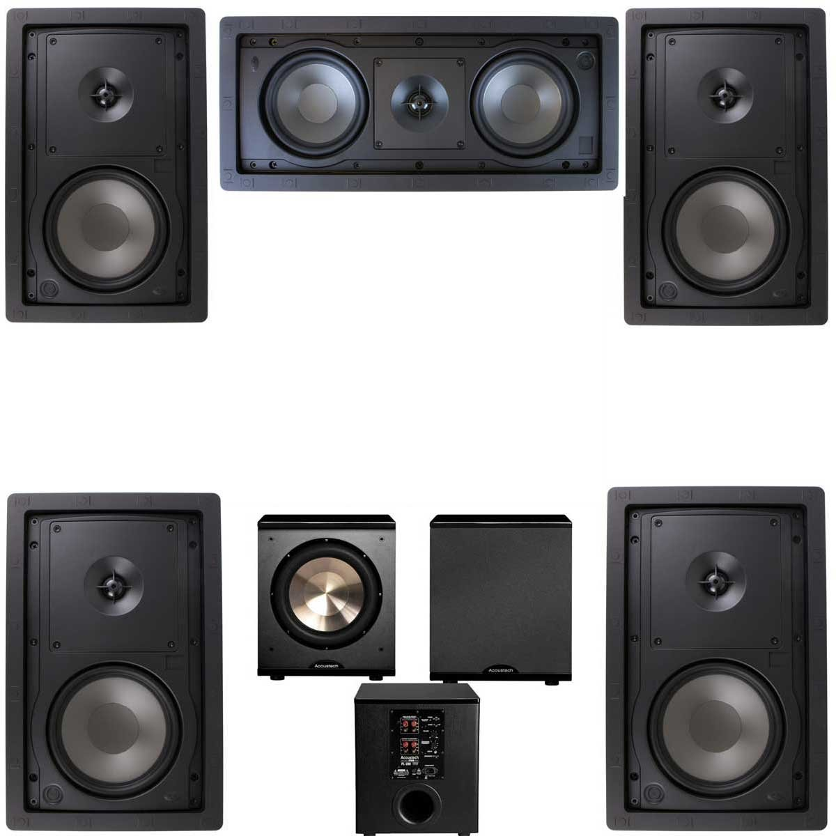 Klipsch R-2650-W In Wall #2 5.1 Home Theater System-FREE PL-200 by Klipsch