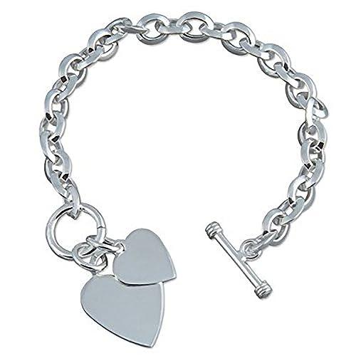 l'atteggiamento migliore 176c7 e0a24 Braccialetto con ciondolo a forma di cuore, in argento ...