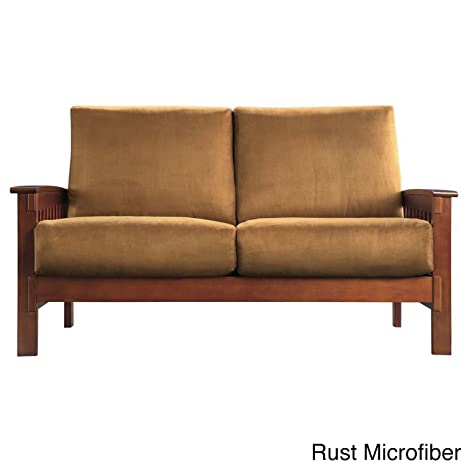 Wondrous Amazon Com Mission Style Oak Loveseat Many Variations And Short Links Chair Design For Home Short Linksinfo