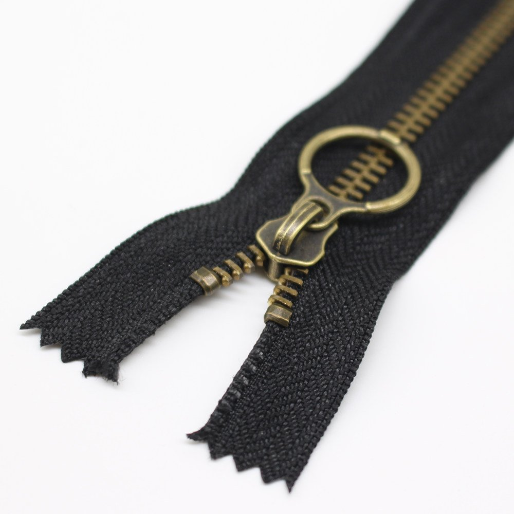 25cm #5 Antique Brass Plated Metal Zippers Bulk Close End Metal Zippers for Sewing Purse Bags Crafts #5 Anti-Brass YaHoGa 10PCS 10 Inch