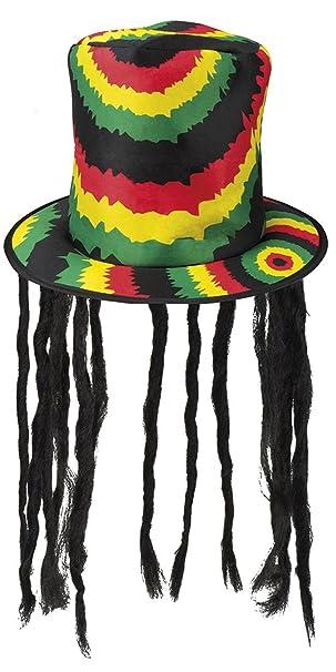 BOLAND 82013 sombrero Rasta con Rasta, One size: Amazon.es: Juguetes y juegos