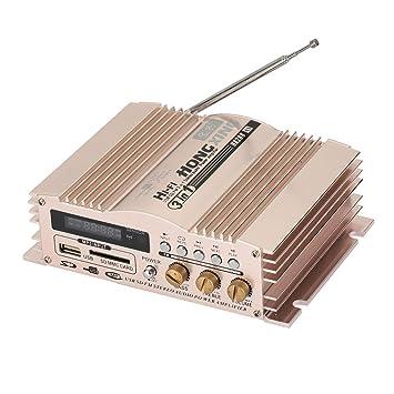 Sedeta 600W 12V amplificador audio estéreo de alta fidelidad FM SD amplificadores estéreo USB para el