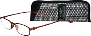 Select-A-Vision Flex 2 Lightweight Flexible Oval Frame Readers, Brown, 3.00