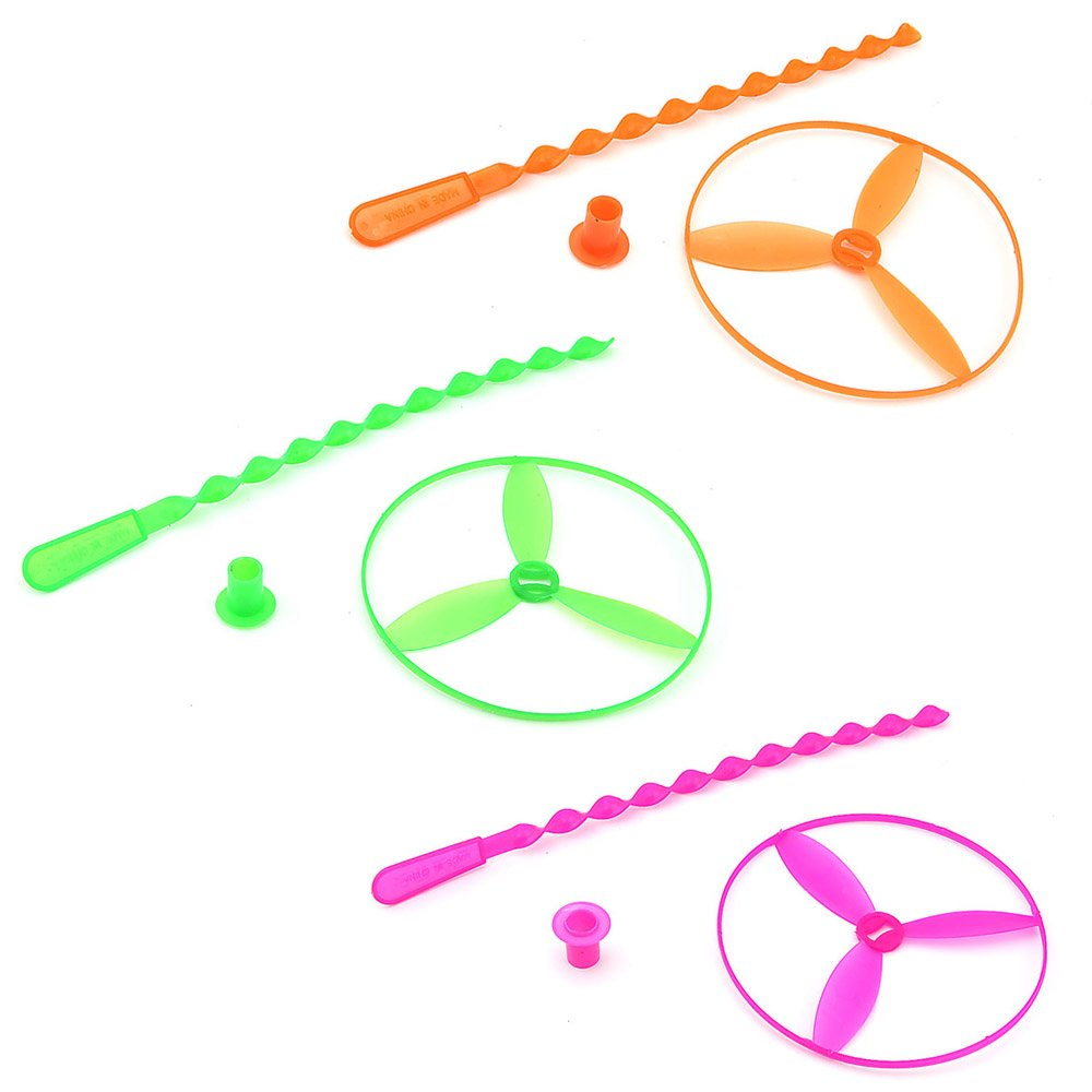 Amazon.com: Owfeel of 3 Dragonfly Toy Plastic Twisty Flying Saucers ...