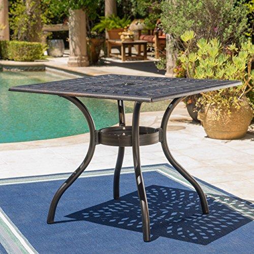 Augusta Patio Furniture 5 Piece Outdoor Cast Aluminum