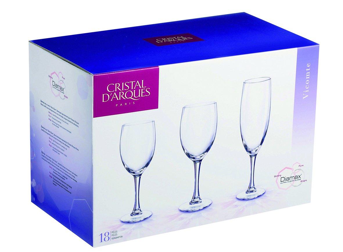 verre a vin cristal d'arques vicomte