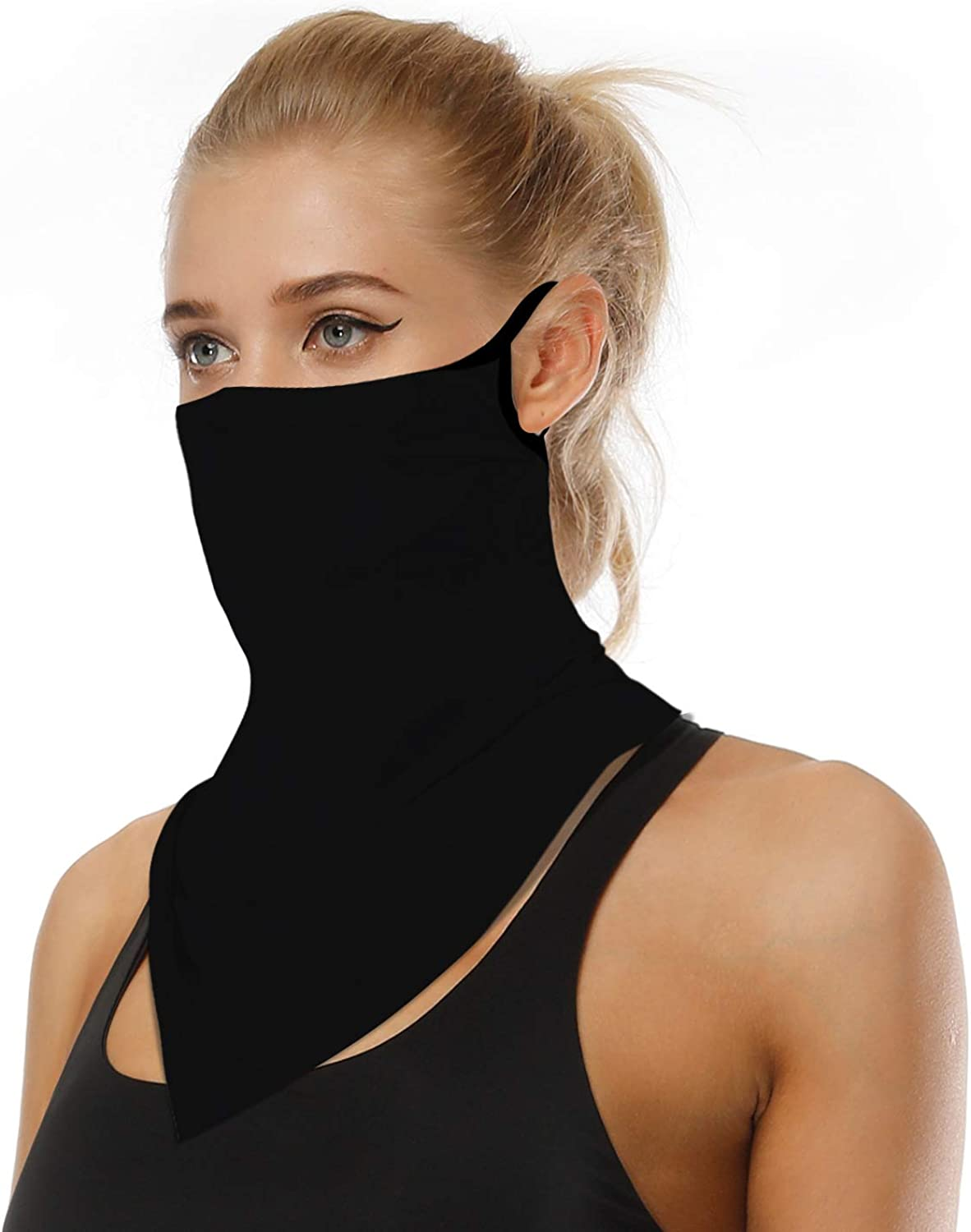 Face Scarf Bandana Ear Loops Face Rave Balaclava Men Women Neck Gaiters for Dust Wind Motorcycle Mask