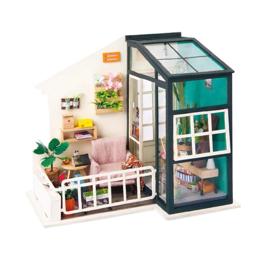 Style 7 Creative Miniature Furniture Dollhouse DIY Wooden House Kit Ornaments Toys