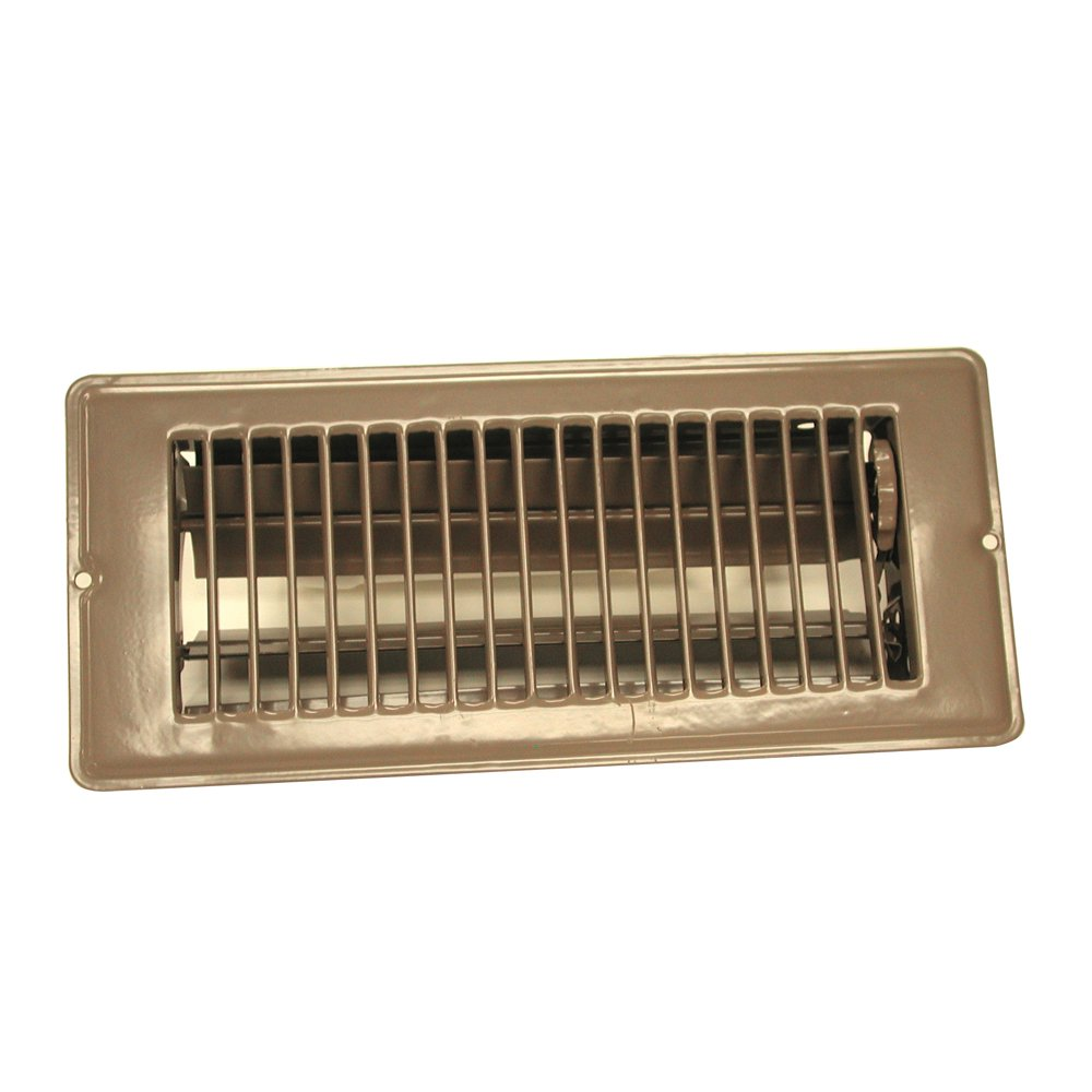 DANCO 4-Inch x 10-Inch Steel Floor Register with 1-5/16 Inch Drop, Brown, 1-Pack (61800)