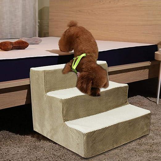 Liteness Subir escaleras mascota, animal doméstico del perro subir escaleras escalera esponja Pasos para perros de alta escala de la subida del gato Perro Esponja Escaleras a la cama portable handsome: Amazon.es:
