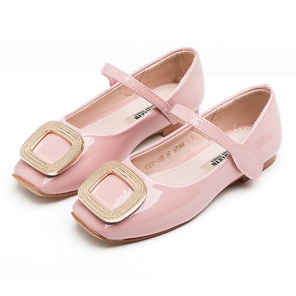 CYBLING Girls Mary Jane Ballerina Flats Patent Princess Dress School Shoes (Toddler/Little Kid/Big Kid)