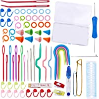 94 PCS Knitting Tool Accessory Kit Sewing Knitting Crochet Accessories Supplies Tools Needles Kit Crochet Starter with…
