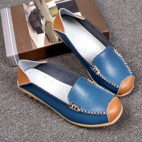 Fondo Boat Shoes Cómodo Mercurial Puma Azul Cesped Casual Deslizarse Flat Mujer La ALIKEEY Claro Suave En Exterior Maiz w7HBICPqR