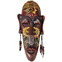 Black Temptation Small Carved African Mask Wall Hanging Africa Decor Wall Art Mask for Home/Bar/Store/Pub, A