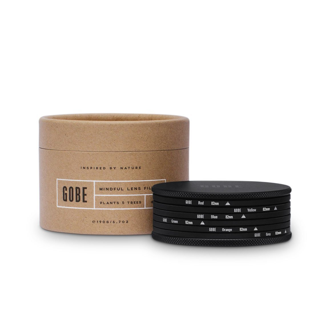 Gobe Color 82mm Filters: Orange, Blue, Grey, Red, Yellow, Green