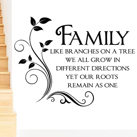 Rubybloom Designs Family Like Branches On A Tree Quote Words Wall
