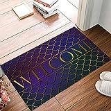 KAROLA Welcome Doormat Metal Mesh Pattern Entrance Indoor/Outdoor Non-slip Backing Rug Carpet(18x30in)