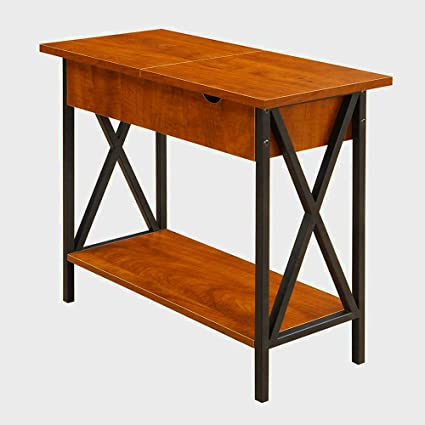 Amazon Com Narrow End Table With Storage For Living Room Or Bedroom