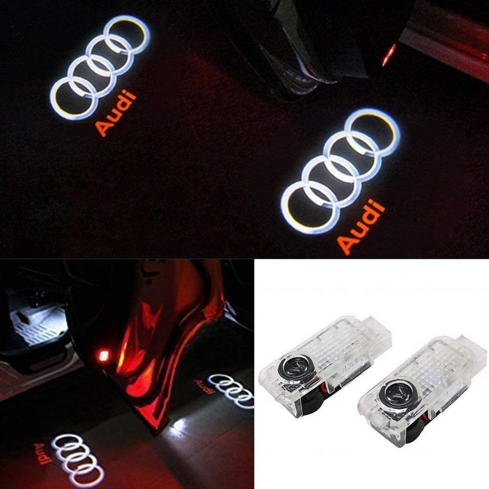 Car Door LED Logo Projector Ghost Shadow Welcome Lights Easy Installation for BMW Series 4 Pack
