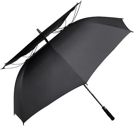 Paraguas de golf G4Free de 175 cm, con doble toldo y ventilació ...