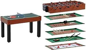 Garlando - Multijuegos de Mesa - 12 Juegos en uno - Fabricado en Madera de Cerezo: Amazon.es: Deportes y aire libre