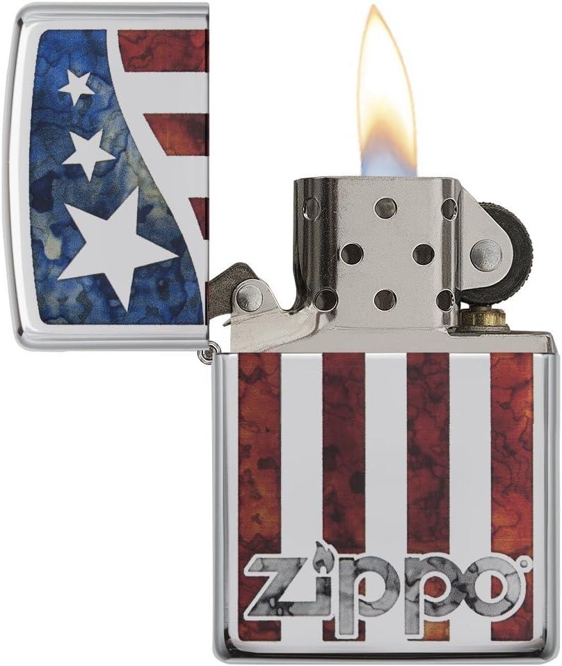 Brillant chrom/é Zippo 60.002.139/Briquet American Flag Collection Spring 2016