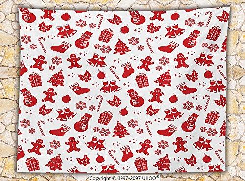 Christmas Decorations Fleece Throw Blanket Pattern with Nostalgic Xmas Ornaments Snowflakes Bells Present Kids Nursery Decor Throw Van Belle Nursery Christmas