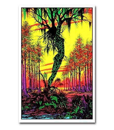 swamp mirage black light poster