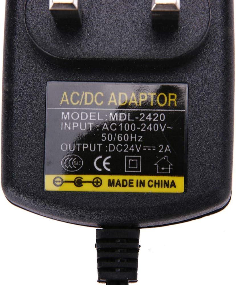 2A DC 5,5x2,5 mm 100V//240V auf 24V DC Konverter 48W AC auf DC Netzteil mit /Überlastschutz /Überspannungsschutz f/ür Home Audio Kommunikation Netzteil 24V IT Beleuchtung