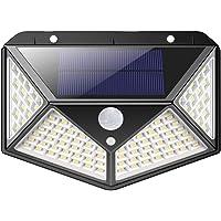 Luz Solar Exterior, iPosible [Versión Actualizada] 100 LED Foco Solar con Sensor de Movimiento Gran Ángulo 270º…