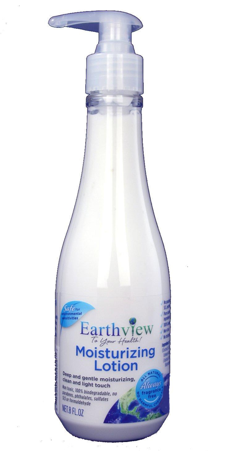 Earthview Lotion, Fragrance Free Lotion, 8 oz, Rich, Luxurious- Designed for Environmental Sensitivities (MCS, EI, MI)