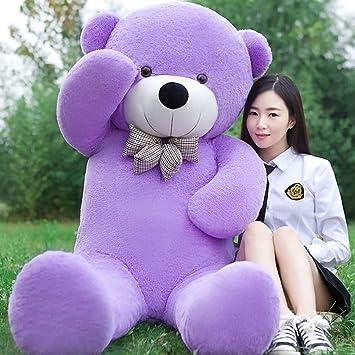 ALISHA TOYS Cute & Beautiful Soft Purple Teddy Bear for Girls - 85 cm (3 feet)
