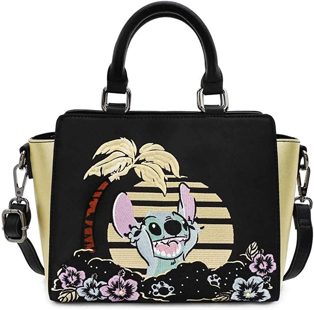 Loungefly Disney Stitch Satin Faux Leather Crossbody Bag