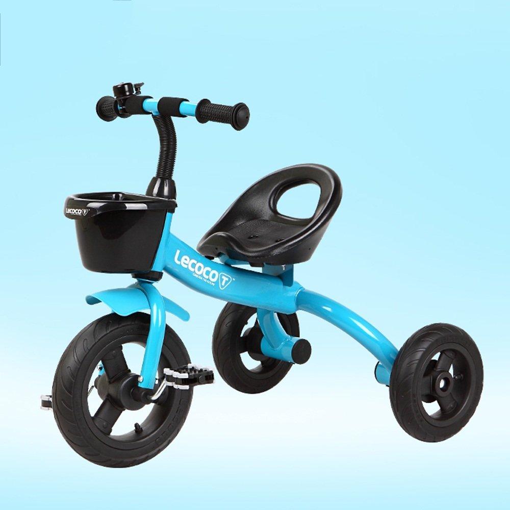 YANGFEI 子ども用自転車 マウンテンバイク、ベビーキャリッジ、三輪車、子供用自転車、ベビーバイク、子供の男の子、女の子用トイカー 212歳  青 B07FGF4M6F