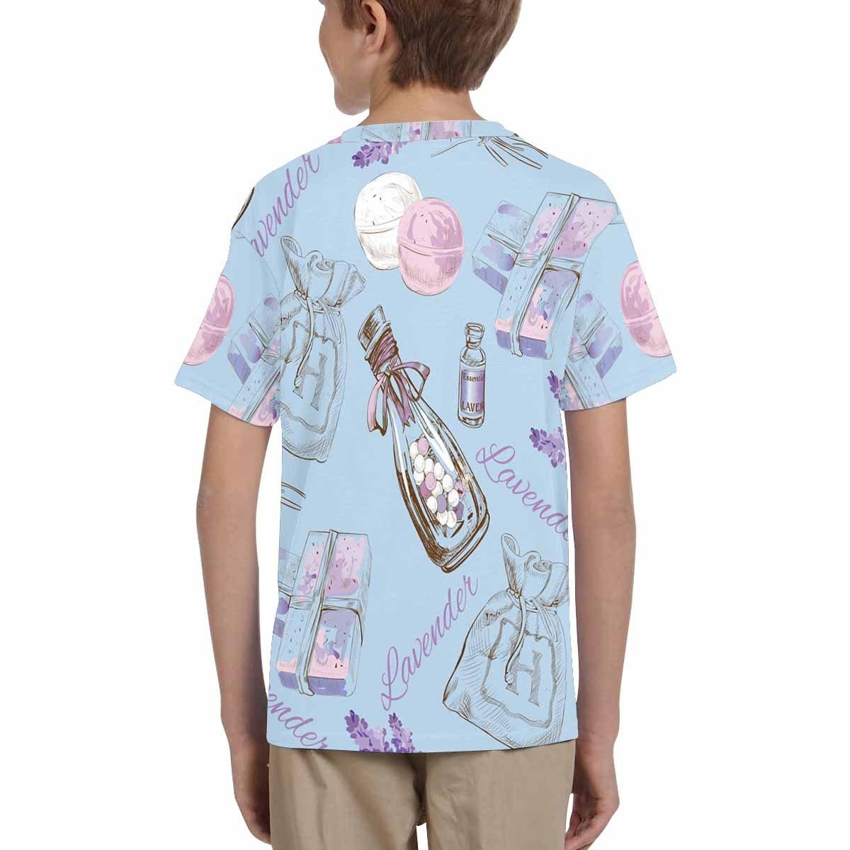 INTERESTPRINT Youth Crew Neck T-Shirt Lavender Pattern XS-XL