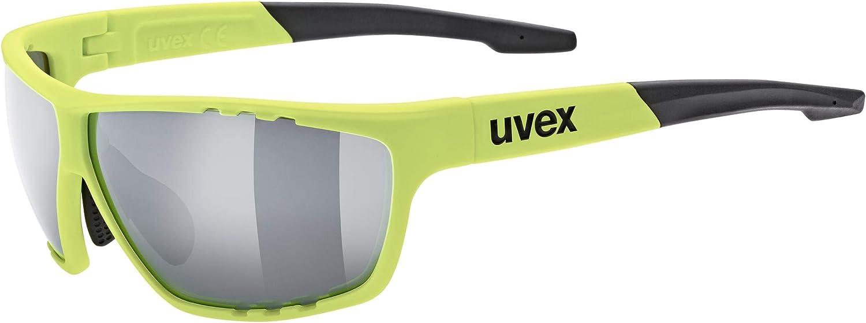 Uvex Sportstyle 706 Lunettes de Cyclisme Mixte Jaune Fluo/Argent