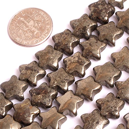 - Pyrite Beads for Jewelry Making Natural Gemstone Semi Precious 10mm Star Polygon 15