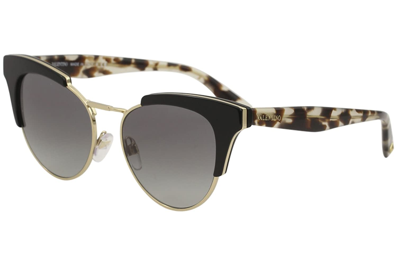 ea6c672d0fceb Valentino Women's VA4026 VA/4026 5001/11 Black Fashion Cat Eye Sunglasses  53mm at Amazon Men's Clothing store: