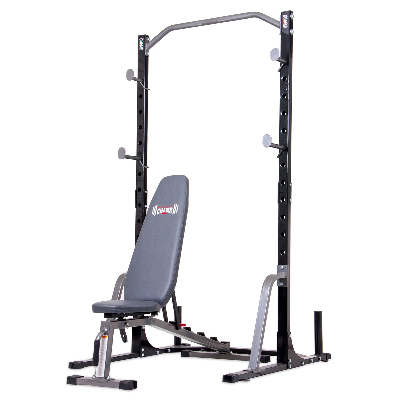 Body Champ Power Rack System with Bench Set PBC2885