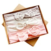 DANMY Baby Girl's Kink Soft Headband Cotton Elastic Hair Band Big Spiral Knot Soft Turban Bow (Gift boxes3)