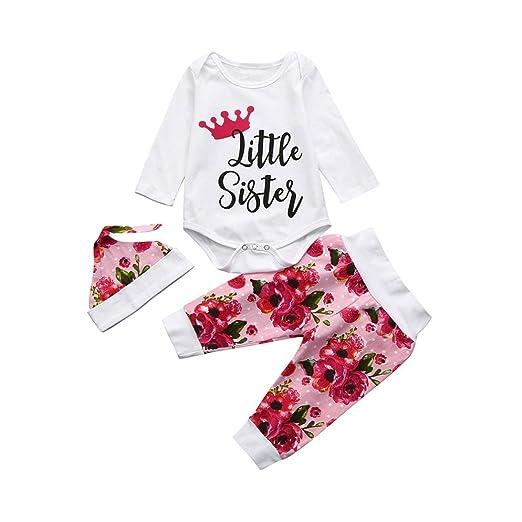 68442d5d3 Connia Toddler Infant Fashion Outfits Set Baby Girls Letter Clothes Set  Romper+Pants+Hat