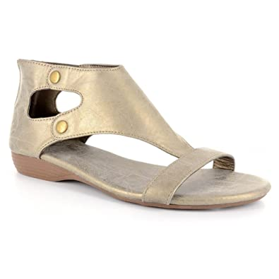 e370e5ccddcdf1 Corkys New Amelia Brushed Gold 6 Womens Sandals