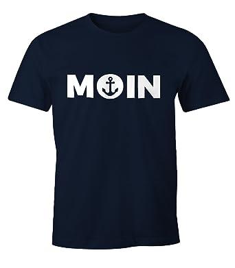 2c0faf49a35bec MoonWorks Cooles Herren T-Shirt Moin mit Anker Shirt  Amazon.de  Bekleidung