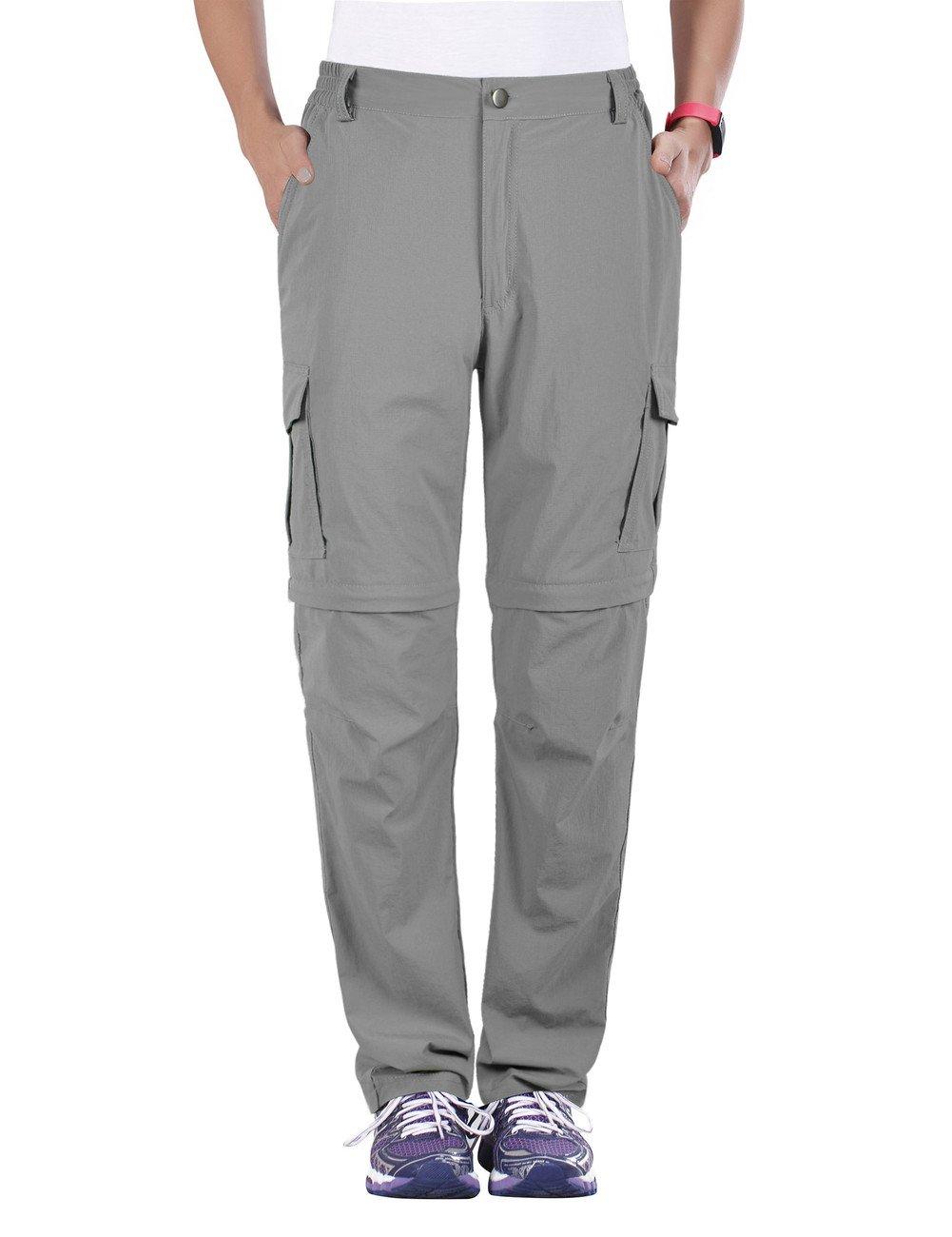 Unitop Women's Water Resistant Cargo Trousers Pants Light Gray XL