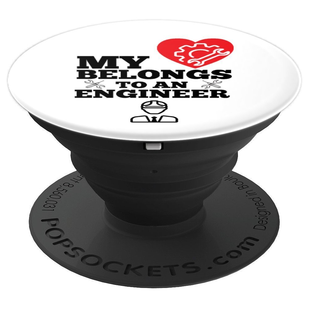 My Belongs To An Engineer Wedding Anniversary - PopSockets Grip and Stand for Phones and Tablets