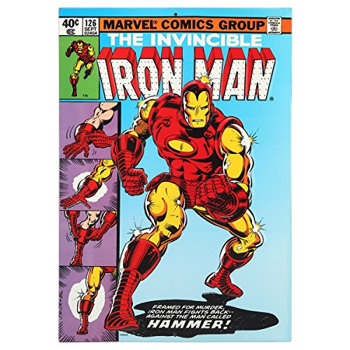 (Open Road Brands Vintage Retro Metal Tin Signs - The Invincible Iron Man #126 Comic Sign - Great for Man Caves, Garage Art, and Home Decor)