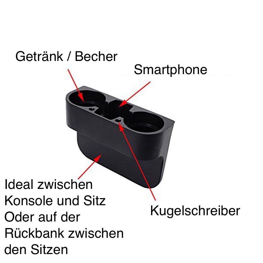 Getr/änkehalter Ablagefach Flaschenhalter Becherhalter Kaffeehalter Cupholder f/ür SMART
