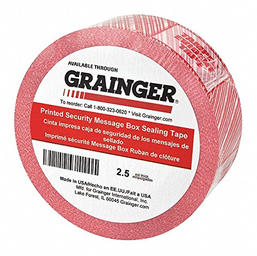 Polypropylene Carton Sealing Tape, Hot Melt Resin Adhesive, 48mm X 100m, 36 PK by GRAINGER APPROVED