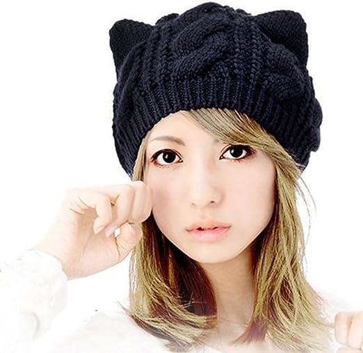 Women Knitted Fashion Hat Winter Hats Beanie for Ladies Girls Warm Wool Autumn